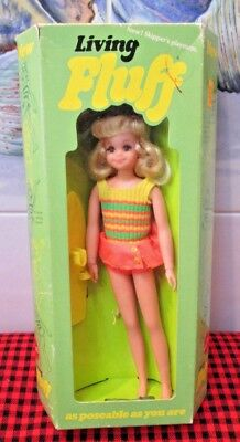 BRAND NEW in BOX 1970~LIVING FLUFF DOLL~NRFB~MINT~Wrist Tag~Skateboard~GORGEOUS!
