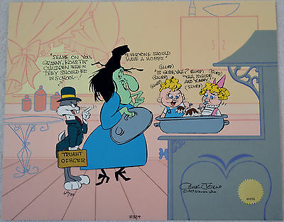 Chuck Jones Cel Bugs And Witch Hazel Truant Officer Cel Signed/#617/750 W/coa