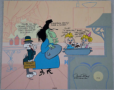 Chuck Jones Cel Bugs And Witch Hazel Truant Officer Cel Signed/#135/750 W/coa