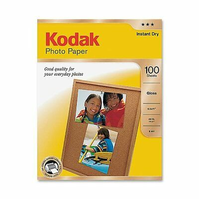 Kodak Glossy Photo Paper, 8.5 x 11 Inches, 100 Sheets per Pack 8209017