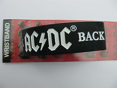 Acdc Back In Black Silicone Rubber Wristband