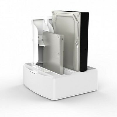 "Dual Bay USB 3.0 Docking Station for 2.5"" and 3.5"" SATA Drive (white colour)"