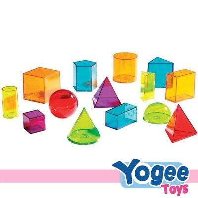 Learning Resources View-Thru Geometric Solids Set of 14