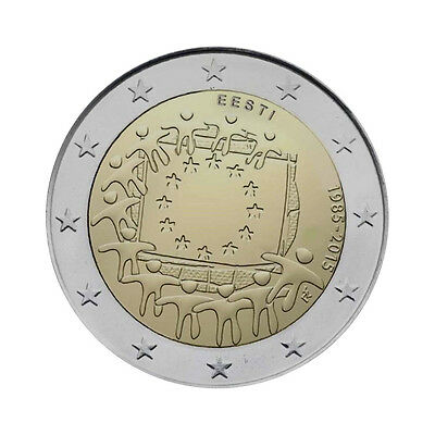 "Estonia 2 Euro commemorative coin 2015 ""30 Years of EU Flag"" UNC"