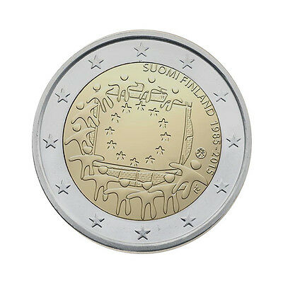 "Finland 2 Euro commemorative coin 2015 ""30 years of EU flag"" - UNC"
