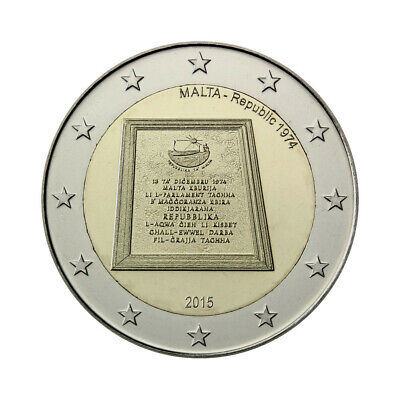 "Malta 2 Euro commemorative coin 2015 ""Republic"" UNC"