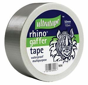 Silver Gaffer Tape 50mm x 10m Cloth Waterproof Repair Carpet Home Strong Gaffa