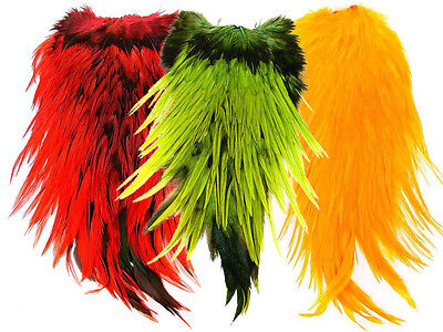 Cock saddle patches - Dyed / various colours / fly tying feathers