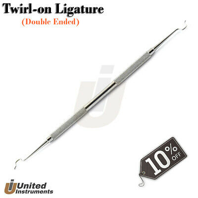 Dental Twirl-On Ligature Applicator Elastic Placing Scaler Ortho Bracket Remover