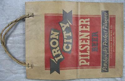Early 1930's Iron City Pilsner Beer Pittsburgh, PA Bottle 6 Pack Bag