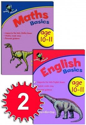Leap ahead Maths and English  Basics ages 10-11, 2 set book collection, easy