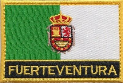 Spain Canary Islands Fuerteventura Flag Embroidered Patch Badge - Sew or Iron on