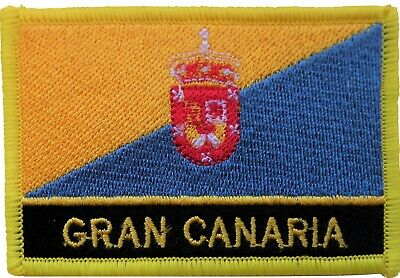 Spain Canary Islands Gran Canaria Flag Embroidered Patch Badge - Sew or Iron on