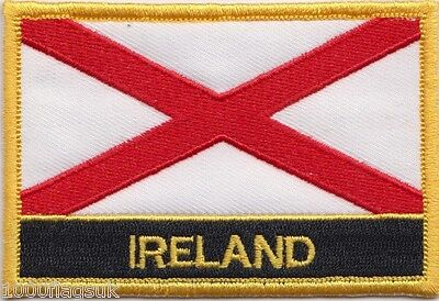 St Patrick's Cross Ireland Flag Embroidered Patch Badge - Sew or Iron on