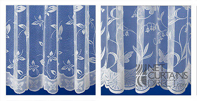 Best Selling Hawaii & Petal Butterfly Design White Net Curtains Premium Quality