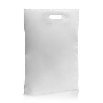 White Plastic Patch Cobra Handle Bags Gift Shop Strong Boutique Retail 30Microns