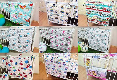 BABY COT BED TIDY ORGANISER PATTERNED 100% Cotton