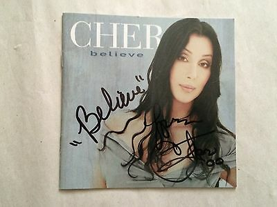 "Cher Signed Beleive Cd - Signature Includes ""beleive"""