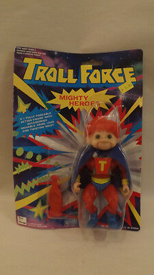 Vtg Troll Force Mighty Man Mighty Hero  Sealed on Card Toys-N-Things