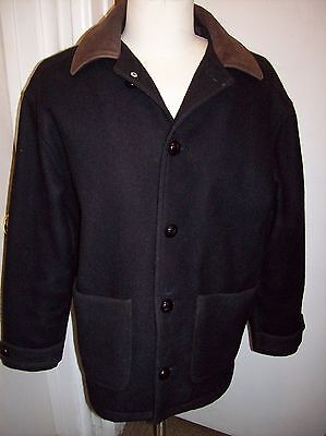Ally McBeal Fox Television Show Black Wool Embroidered Crew Jacket Mens Small