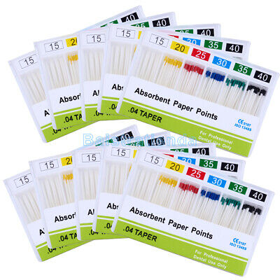 20X 100Pcs/Box 04 Taper Absorbent Paper Points 15-40# For Dental Root Endo Use