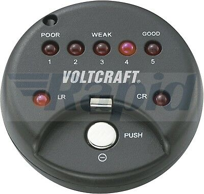 Voltcraft 250455 Button Cell Tester for Lithium and Alkaline Coin Cells