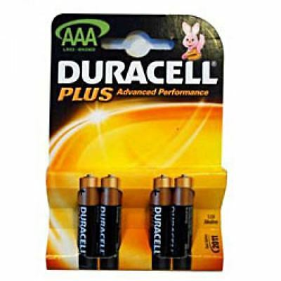Duracell Plus Alkaline 4 Batteries AAA Size - Pack of 10 (40 Batteries in total