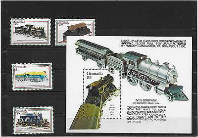 Grenadines Timbres +   Bloc     Neuf**   Trains