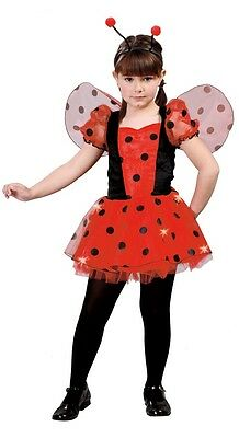 Girls Lucky Ladybird Animal Insect Bug Book Day Fancy Dress Costume Outfit 5-12