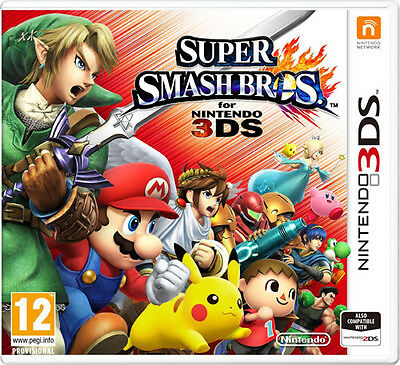 Super Smash Brothers Nintendo 3Ds Game - Brand New And Sealed