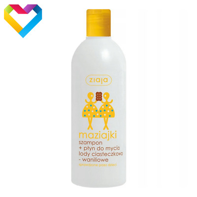 ZIAJA - MAZIAJKI SHAMPOO AND SHOWER GEL COOKIES VANILLA ICE CREAM  400ml  01170