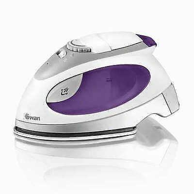 Swan Travel Steam Iron With Pouch 2750W Stainless Steel Solepate Purple