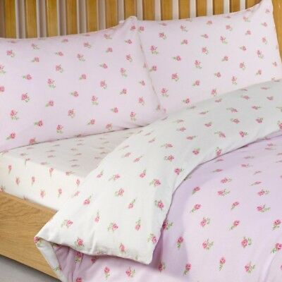 Floral Printed Fitted Sheet In Pink 100% Cotton King Size Bedding Litecraft
