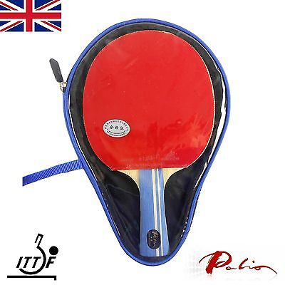 Palio 2 Star Expert Table Tennis Bat with case CJ8000 rubbers from UK  IMPERFECT