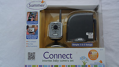BRAND NEW SEALED Summer Infant Connect Internet Baby Camera Set - 28130