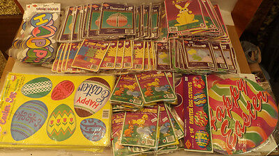 Vtg 230 pc Beistle Easter Decoration Lot NOS Honeycomb,Die-Cuts,Garland,Bunnies