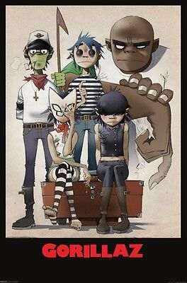 Gorillaz All Here Family Portrait Music Poster Print Animated New 24x36