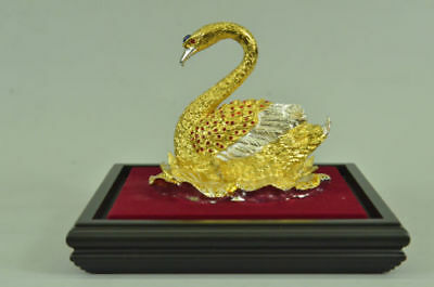 French Empire Figural Winged Swan Bronze Brass Detailed Decoration Gift