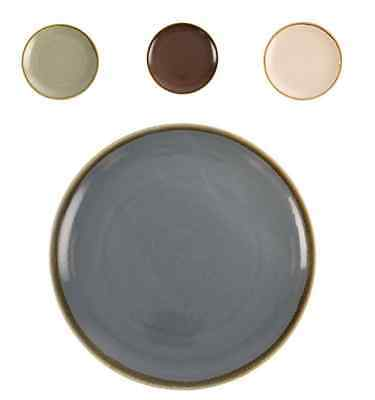 4x Kiln Crockery Coupe Dinner Round Plate Serve Dish 280mm - 4 colours available