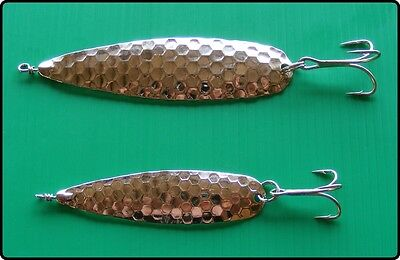 2 Ondulate Spinner Spoon Lures Pike Perch Trout Fishing - 8g & 6g