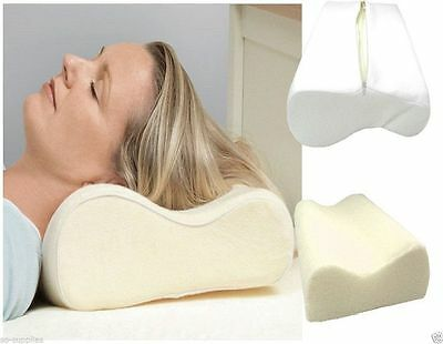 Orthopaedic Memory Foam Contour Pillow Firm Head Neck Back Support Free Cover