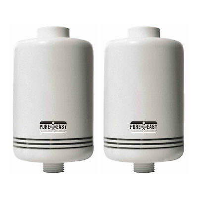 Shower Filter Inline Chlorine, Heavy Metal and Contaminant Removal PACK 2 FILTER