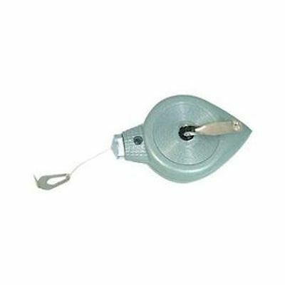 Metal Chalk And Plumb Line 30M Plumb Bob Line Reel Belt Clip Push Button Release