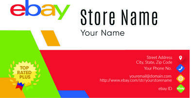 500 EBAY SELLER Personalized Business Cards-FREE SHIPPING-Glossy or Matte