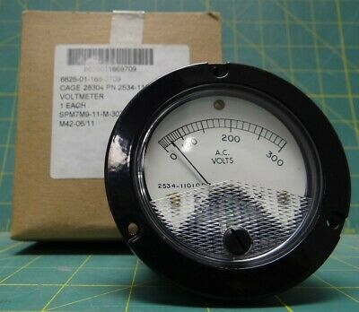 "3"" Voltmeter Differential Gauge 1/8"" NPT 0-300 AC Volts NSN: 6625-01-186-9709"
