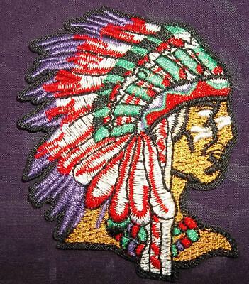 Native American Patch Indian Warrior Patch Headdress Free Shipping Diy