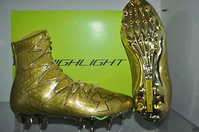 Under Armour Mens Highlight MC Limited Edition Football Cleats Gold NIB