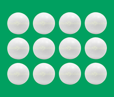 12 Smooth Foosballs White - Smooth Table Soccer Balls