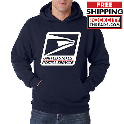 USPS LOGO POSTAL HOODIE Hooded Sweatshirt on Chest United States Service US