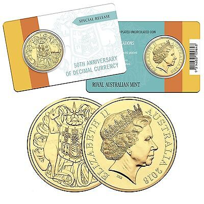 2016 Gold Plated Round Special Edition 50c Fifty Cent